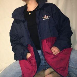 Jackets & Blazers - MOLSON BEER NAVY AND RED WINDBREAKER JACKET